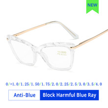 Ralferty-gafas de lectura con luz azul para mujer, montura de gafas de Ojos de gato, lentes transparentes para hipermetropía presbicia, grado + 2020 2,0 0, 1,25 bloques