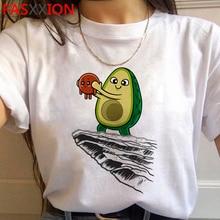 Kawaii Avocado Funny Cartoon T Shirts Women Harajuku Ullzang 90s T-shirt Graphic Cute Grunge Tshirt