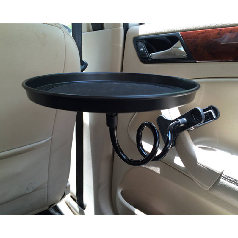 Car Food Tray with Clamp Bracket Folding Dining Table Drink Holder Car Pallet Back Seat Water Car Cup Holder Car Swivel Tray