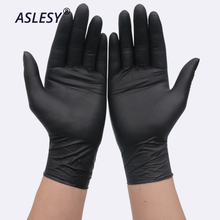 100PCS Black Disposable Gloves Latex Dishwashing/Kitchen/Medical /Work/Rubber/Garden Gloves Universal Flexible ProfessionProtect