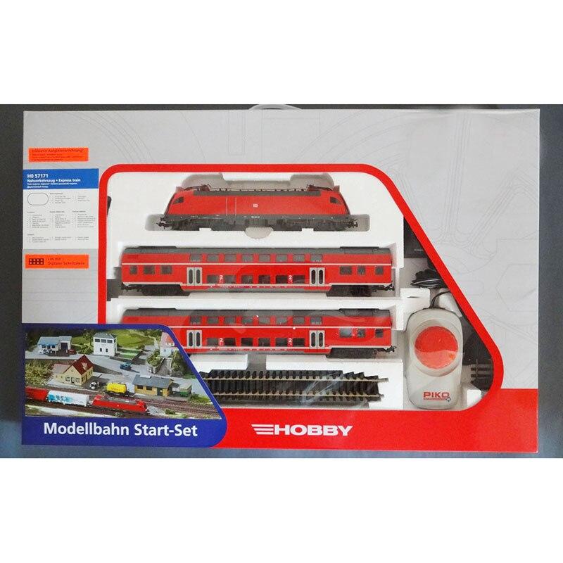 Немецкая классическая модель поезда 57171 электрические локомотивы, двухэтажные пассажирские пассажиры и трековый контроллер