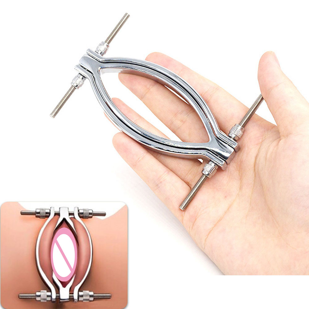EXVOID Metal Labia Clamps Easy Access To Clitoris And Vagina BDSM Sex Toys For Couples Flirting Pussy Clip Spreader Stimulator