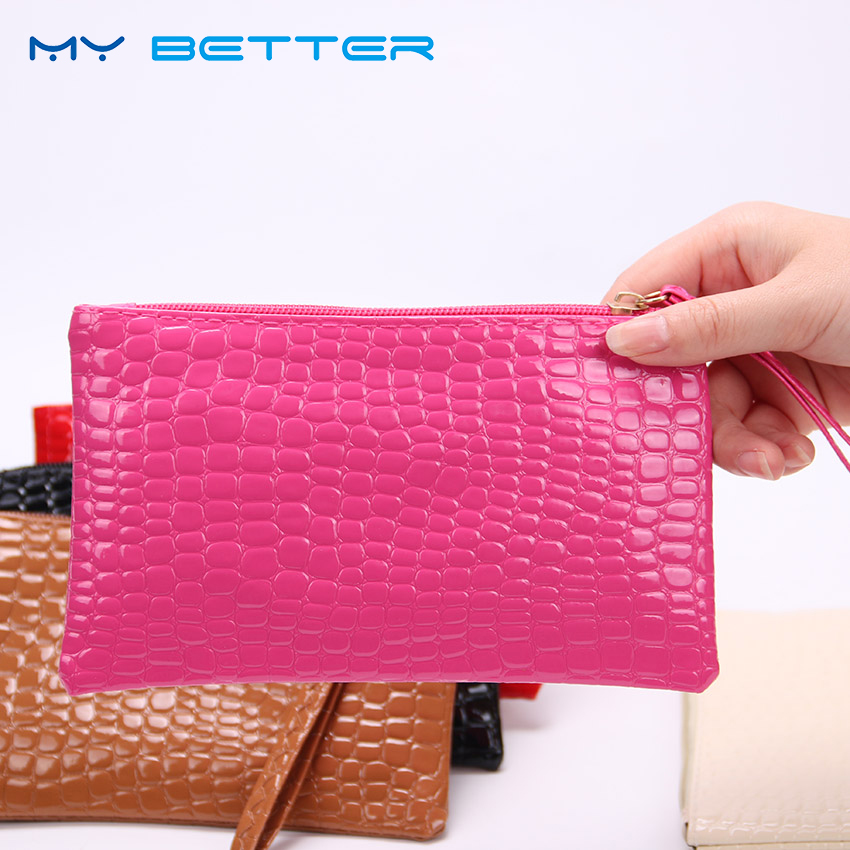1PC Women Clutch Zipper Wallet Large Capacity Wallets Female Purse Lady Purses Phone Pocket Card Holder Carteras More Color