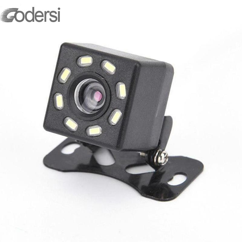 Car Rear View Camera Universal Backup Parking Camera 8 LED Infrared Night Vision Waterproof 170 Wide Angle HD Color Image