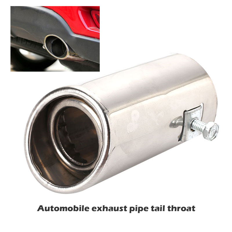 Vehicle Car Double Section Exhaust Muffler Silencer Stainless Steel Reduce Noise