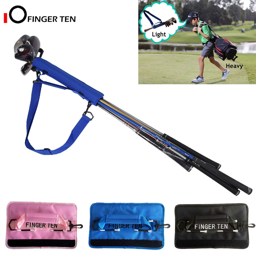 Lightweight Mini Golf Club Bag Driving Range Carrier Course Training Case Black Blue Pink for Men Women Kids 1