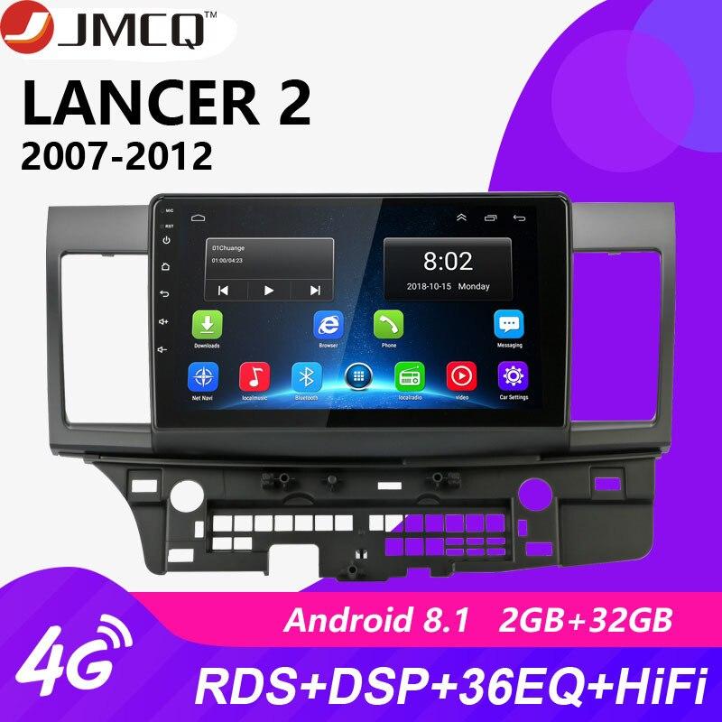 Autoradio Android 2G + 32G pour Mitsubishi Lancer 2007-2012 10 pouces 4G NET + WiFi RDS DSP vidéo Audio multimédia 2 Din lecteur Dvd de voiture