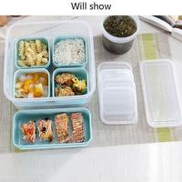 6pc Mittagessen Box Umweltfreundliche Bento Box Lebensmittel Behälter Lebensmittel Organizer Lebensmittel Lagerung Box Mikrowellen Dicht Schärfer Box Frische Box-in Lunchboxen aus Heim und Garten bei