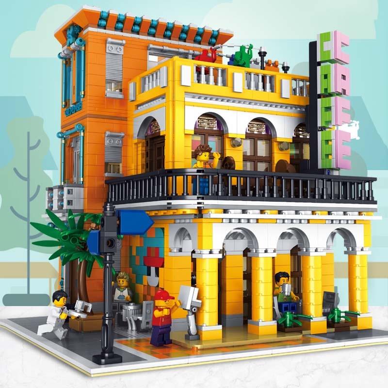lepining moc street building brinquedos compativeis 01