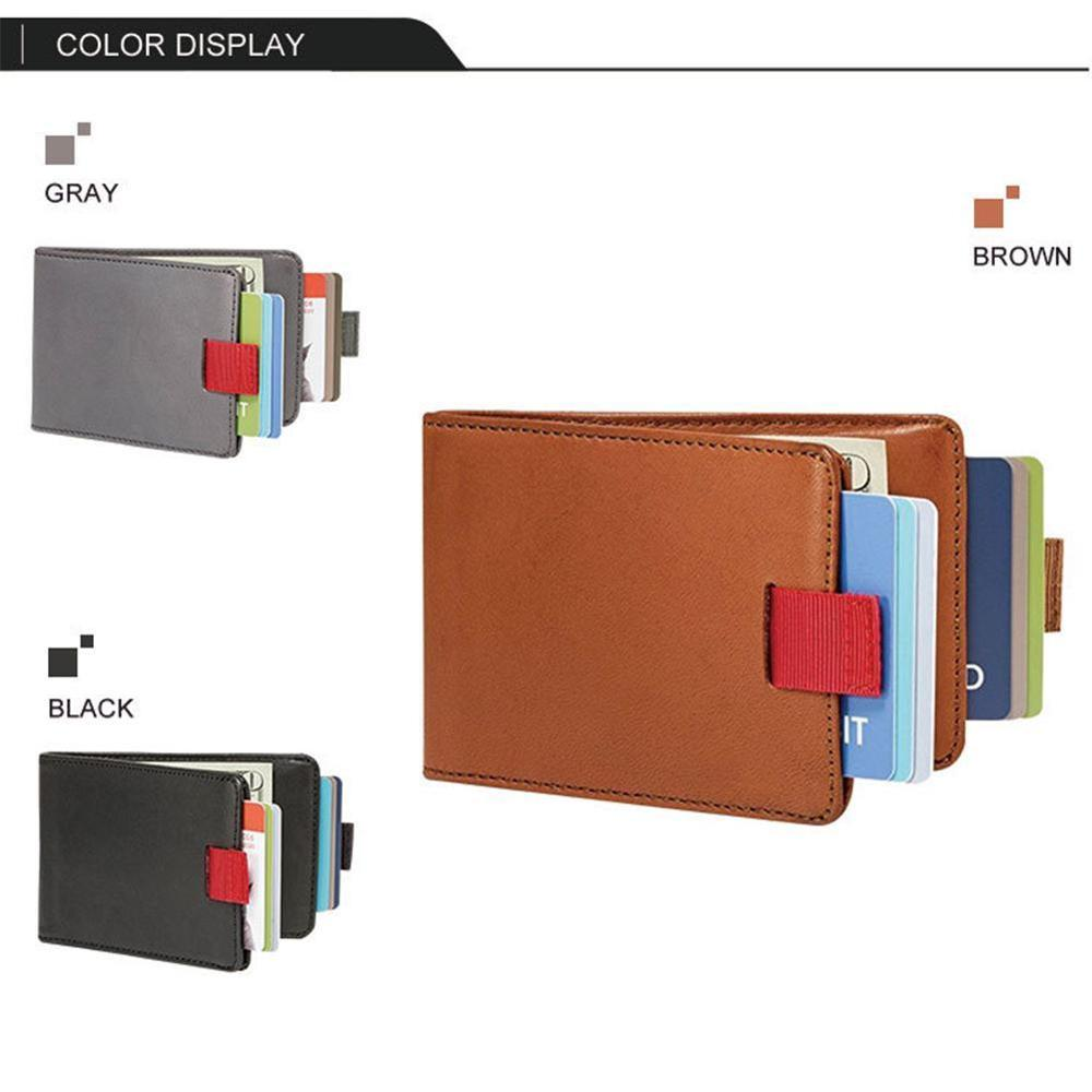 Handmade Slim Wallet Blocking Pu Leather Slim Pull-Out Wallet Card Golder Women Wallet Bags Handmade RFID Pull-out Leather Card