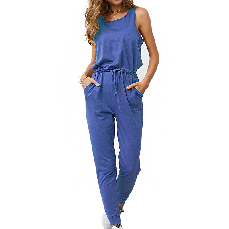 Adogirl Sleeveless Jumpsuit Women Fashion Ladies Loose Long Trousers 2019 Autumn Casual Streetwear Coveralls Skinny Playsuit