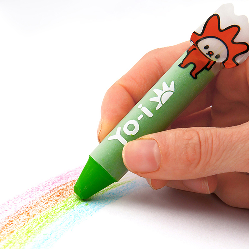 Best Deal¬Water-Based-Crayon-Set Oil-Pastel 12-Color TOMBOW Washable YN-RY12C Squeeze-Type Children's