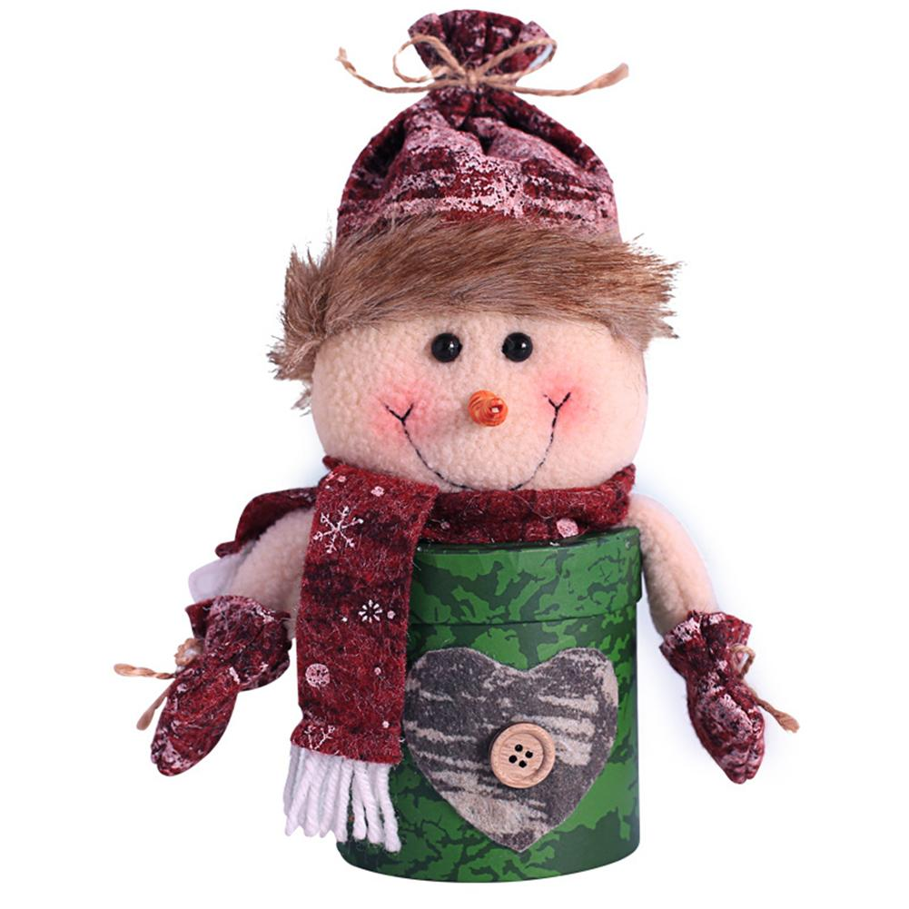 Christmas Decorations  Dolls Shape Candy Bag Children Gift Bag Old Man Snowman Elk Shape Innovative Christmas Children