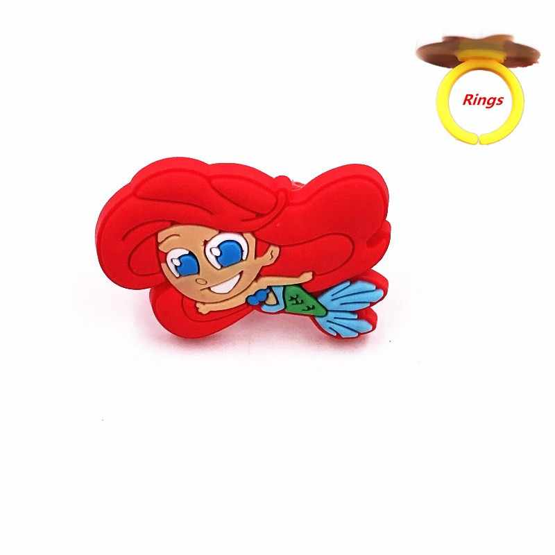 1PCS เจ้าหญิง Ariel Cinderella Soft ไอคอนน่ารักแหวนหญิงวันเกิดของขวัญเครื่องประดับ Finger อุปกรณ์ตกแต่ง