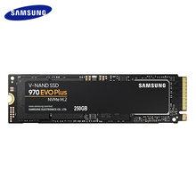 Samsung ssd original, 970 evo plus 250gb 500gb 1tb NVMe-M.2 2280 unidade de estado sólido interno tlc disco de armazenamento