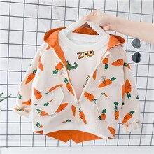 Осеннее пальто для маленьких мальчиков; пальто с капюшоном и длинными рукавами для малышей; Детские повседневные куртки с героями мультфильмов; кардиган на молнии для мальчиков; ветровка; верхняя одежда