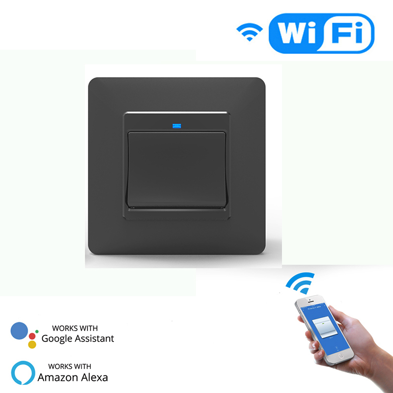 WiFi EU Smart Push Button 1Gang Switch Removable Detachable Smart Life Tuya App Remote Control Work Alexa Google Home