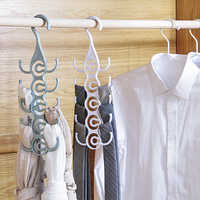 Multilayer Plastic Windproof Clothes Hanger Organizer Fixed Holder Storage Racks Buckle Hanger Anti-Slip Home Storage Rack