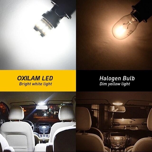 OXILAM-lampe de coffre intérieur 194 K   T10 168 Canbus W5W 6500, dégagement de lumière de Parking, dôme lecture, blanc