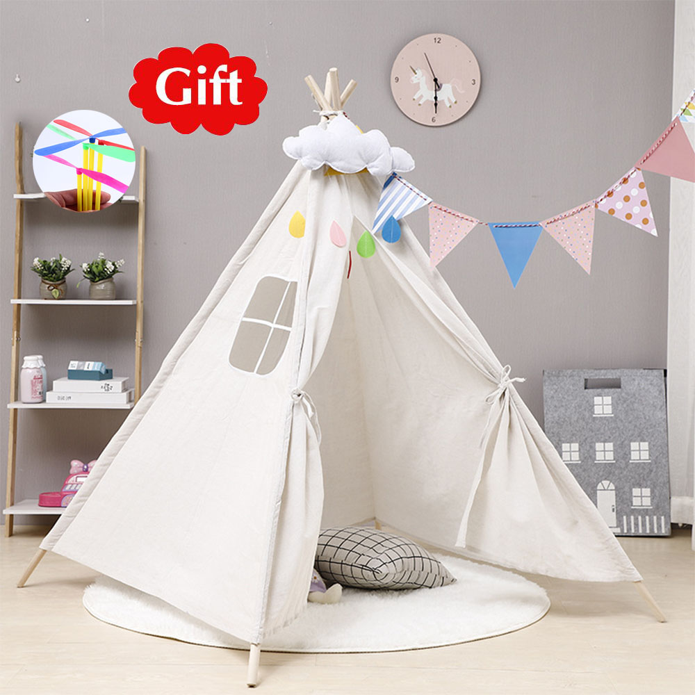 TEEPEE TIPI TENT FOR CHILDREN WIGWAM HOUSE PREMIUM FOR BABY