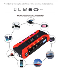 Car Rover Jump Starter 26000mAh Emergency Car Power Bank Car Jump Starter 12V Mini Portable Multifunctional for 3.0L Diesel bly 16 multifunctional 82800 68800 mah large capacity portable vehicle power car jump starter mini emergency booster power bank