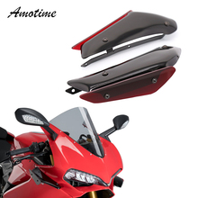 For DUCATI Panigale 899 959 1199 1299 V4 Motorcycle Fairing Parts Aerodynamic Wing Kit Fixed Winglet Fairing Wing