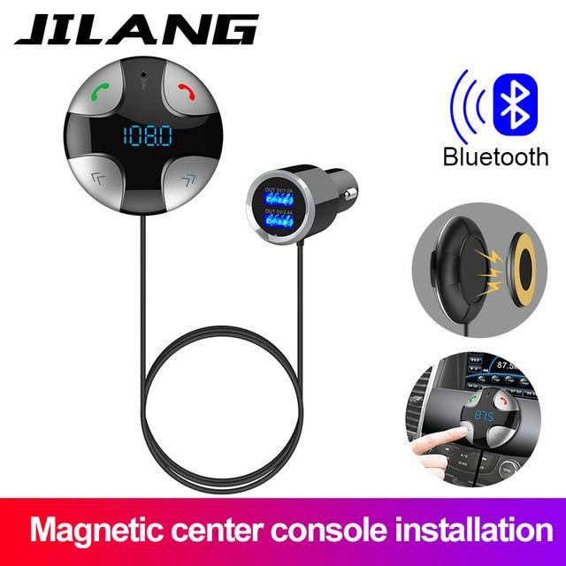 Transmetteur Bluetooth FM sans fil   Kit de voiture, lecteur MP3, Support USB, carte SD Tf, écran LCD, chargeur de voiture USB pour iPhone et Android