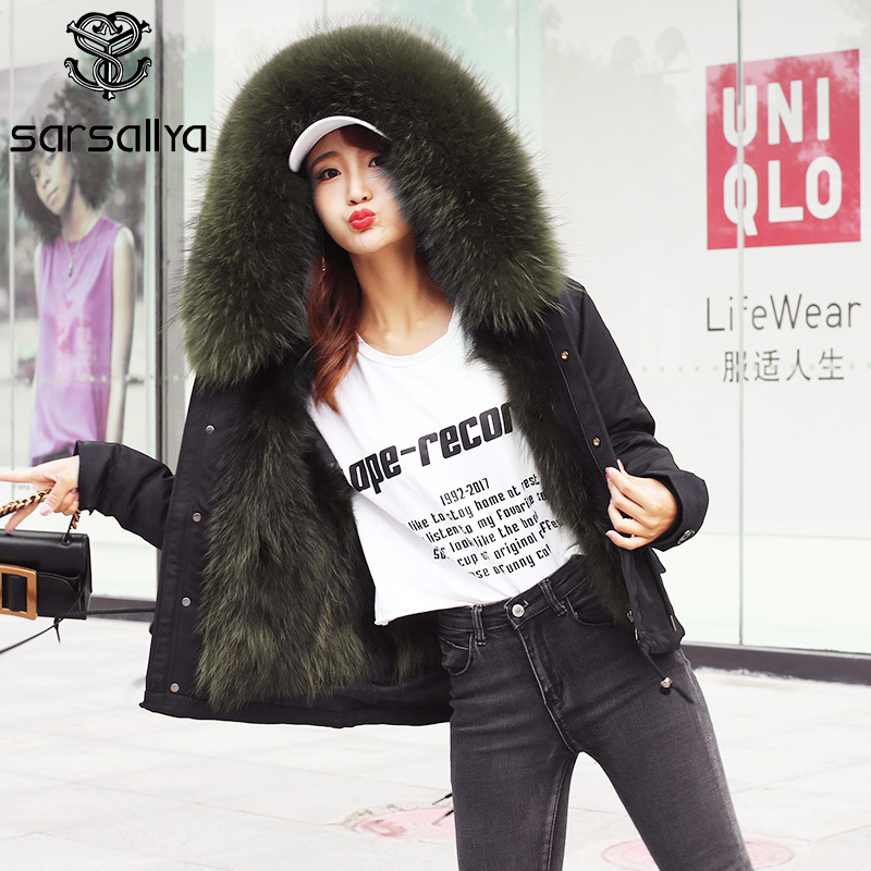 2019 Women Winter Jacket Parkas Real Fur Short Parka With Hood Female Natural Fur Parkas Ladies Warm Thick Overcoat New Arrival