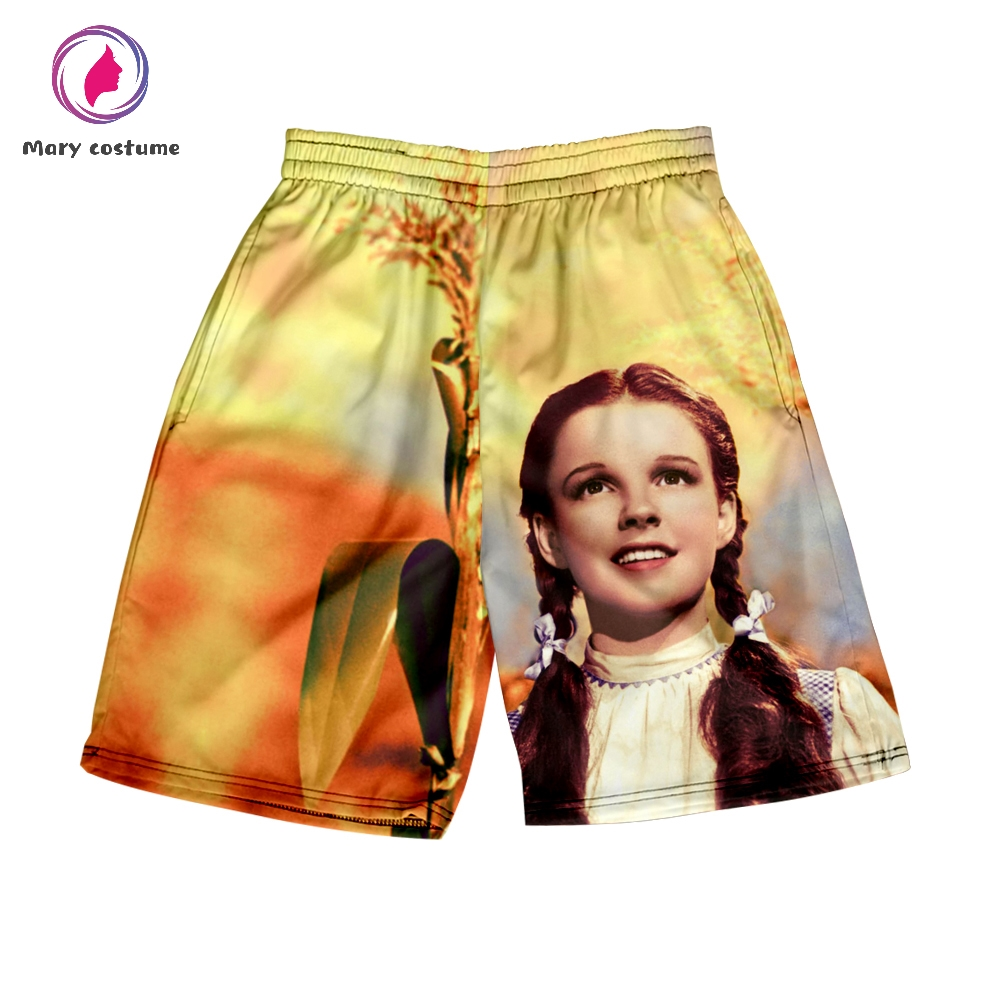 The Wizard Of Oz Shorts Men Harajuku Beach Shorts 2019 Summer Men Fashion Leisure Polyester 3D Kpop Popular Shorts