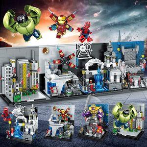 De Avenger Super Heros Ironman Spiderman Bouwstenen Speelgoed Kinderen Model Bricks Cijfers Speelgoed Cadeau Voor Kinderen Gratis Verzending