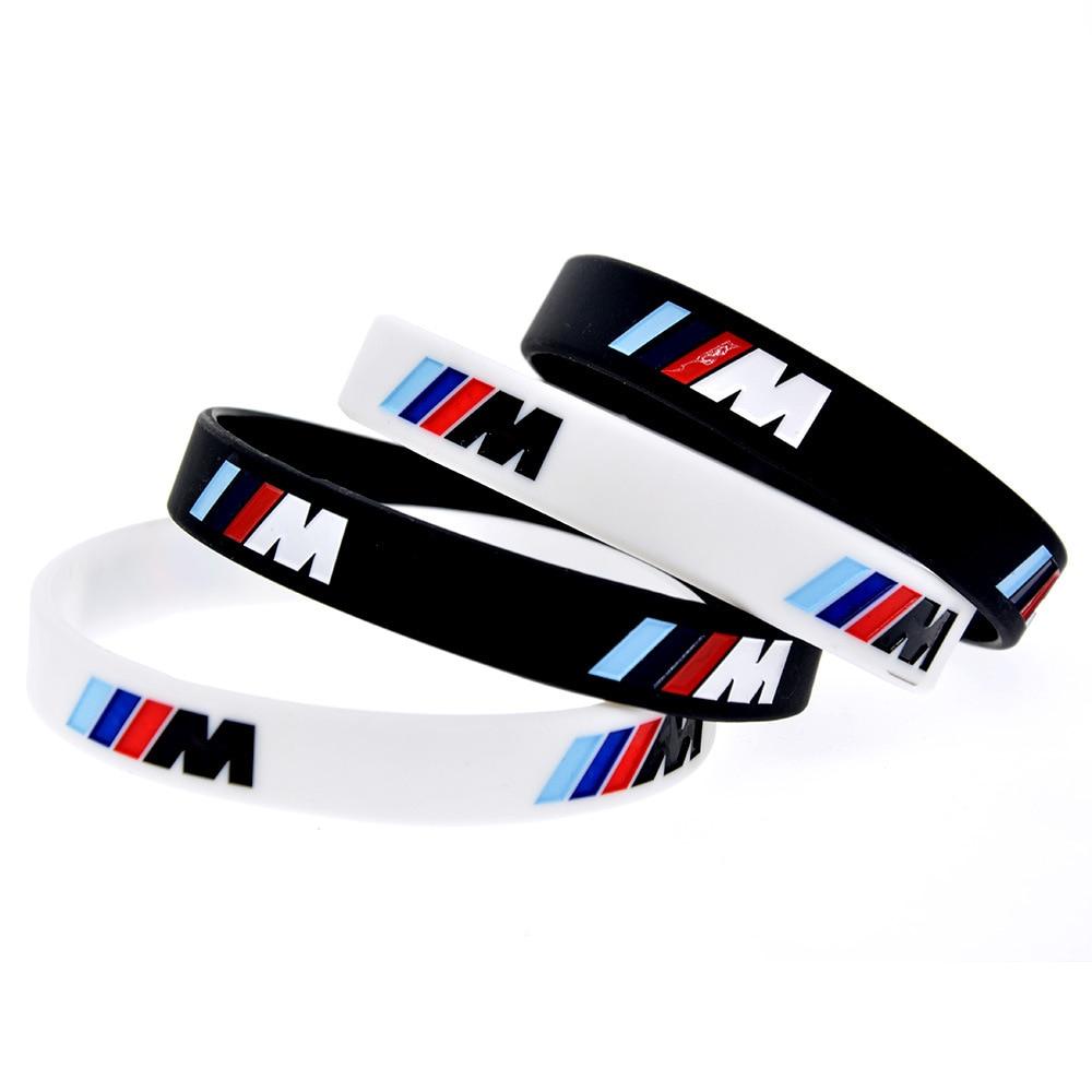 Модный силиконовый чехол с гравировкой спортивные браслет, M производительности, используется для BMW клуб M3, M5, M6, серии, украшения, подарки, а...