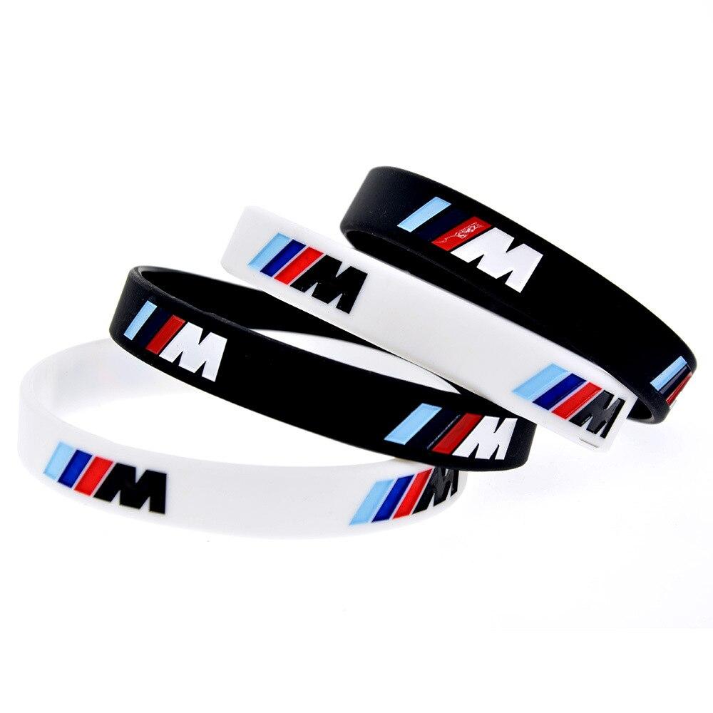 Silicone na moda gravado esportes pulseira, m desempenho, usado para bmw club m3, m5, m6, série jóias presentes acessórios