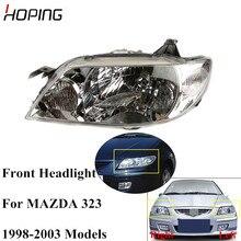 Надежная передняя фара для MAZDA 323 BJ FAMILY PROTEGE 1998 1999 2000 2001 2002 2003 головной свет