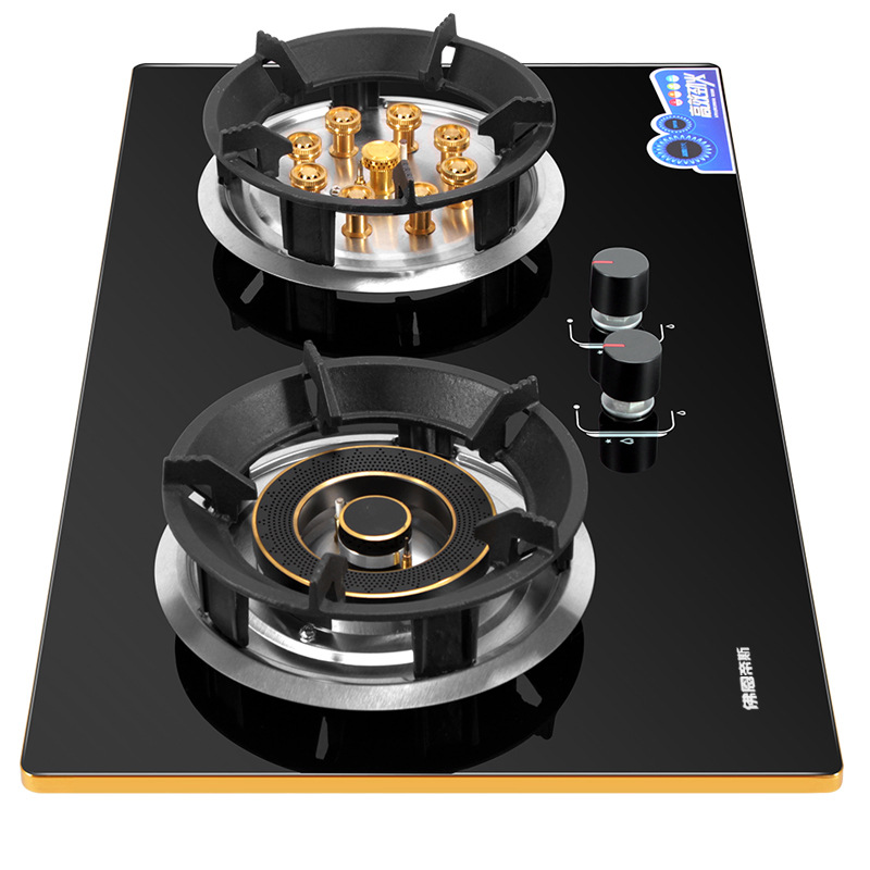 5500w Gas Stove Double Fire Embedded Home And Commercial 2 Pots Bulit-in Gas Hobs Dual-cooker Gas Cooktop Catering Equipment