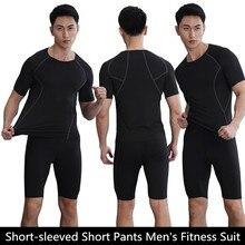 High Quality New Men's 3D Printing Quick Dry Short Sleeve T-shirt training Kit GD1103