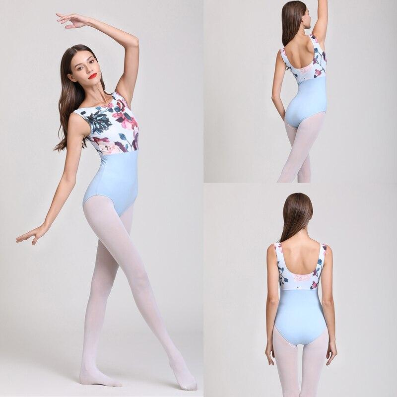 Ballet Dance Leotards Adult 2020 High Quality Comfortable Practice Dancing Costume Gymnastics Women Sky Blue Leotard Ballet
