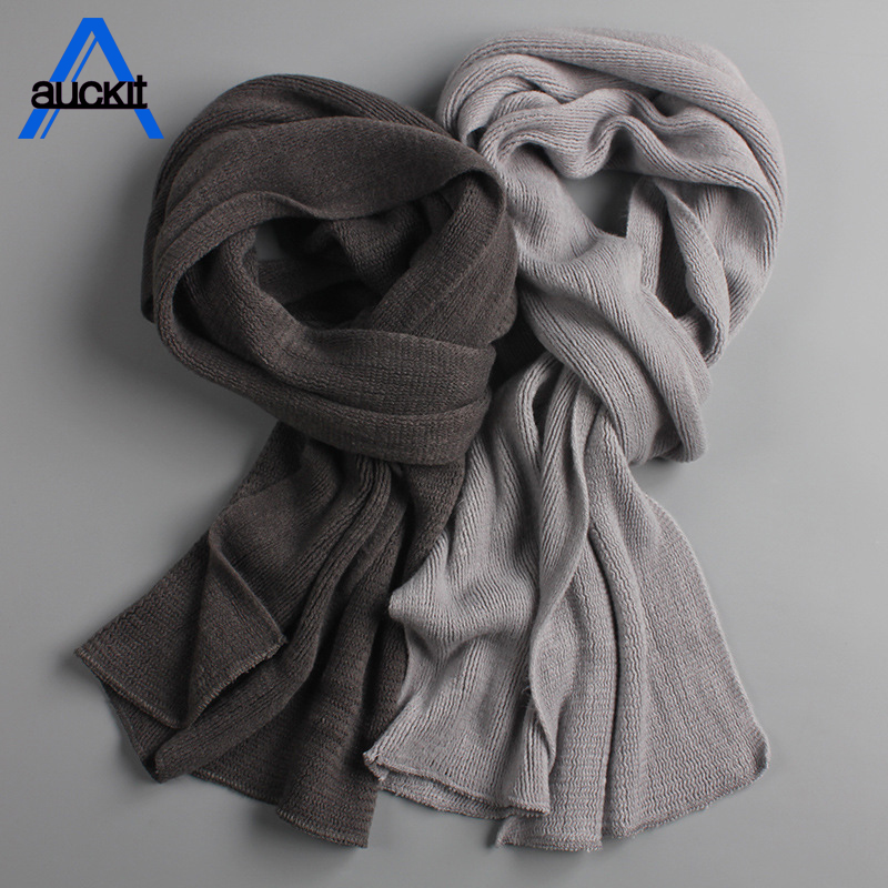 2018 New Men's Knit Scarf Spring Unisex Thick Warm Winter Long Scarf Men's Cashmere Scarf Ladies Warmest  -8