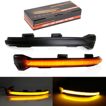 Dynamic LED Turn Signal Light For VW MK7 Golf 7 GTI EMARK Smoked Side Mirror Sequential Blink Rearview Mirror Turn Signal Lights