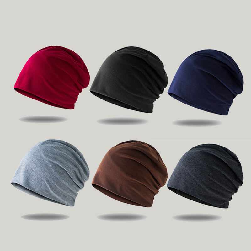 Spring Winter Knitted Cap Men Women Casual Solid Color Beanies Hip-hop Skullies Bonnet Snap Slouch Beanie Turban Hat For Men