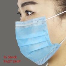 1000 PCS Disposable Mask Anti Dust Bandage 3 Layer Face