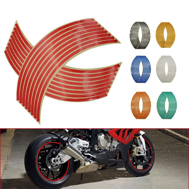 Motorcycle Wheel Sticker 3D Reflective Rim Tape Auto Decals Strips For Yamaha FZ6 FAZER XJ6 DIVERSION XSR 700 900 TDM 900 MT125