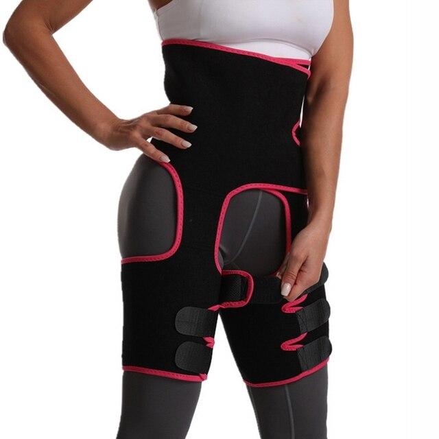 Neoprene Sweat Body Shaper Legs Shaper Slimming Control Fat Shapewear Women's Support Slimmer Belt Legs Reduce Wraps 1