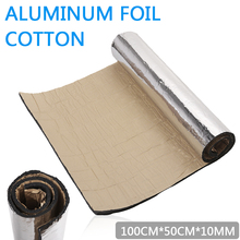 1 Roll 100cmx50cmx10mm Car Sound Proofing Deadening Insulation Closed Cell Foam Mats Pad For Chassis Trunk Room