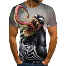 NEW Venom 3D Printed T-shirts Men Casual Shirt Short Sleeve Fitness T Shirt Male Tops Weight lifting Base Layer