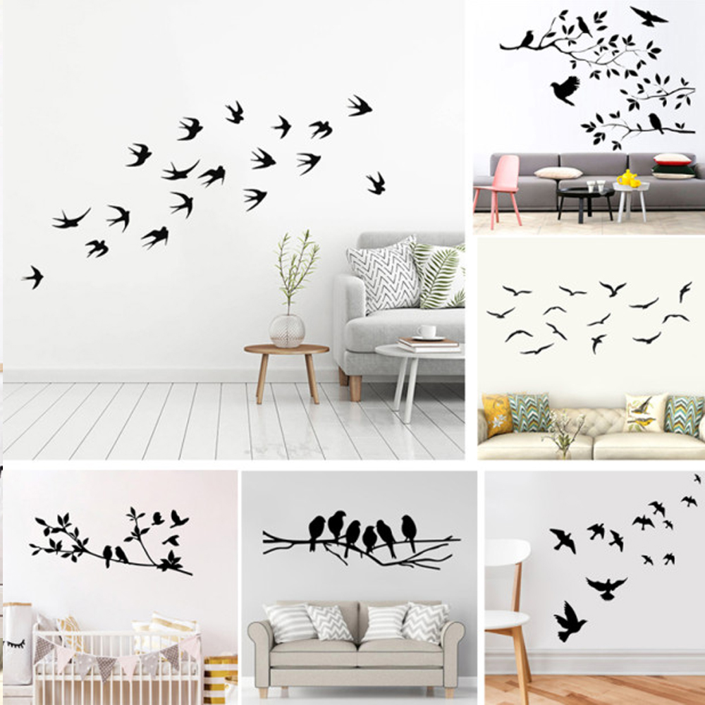 Special Offers Wall Stickers Trees And Birds Ideas And Get Free Shipping A43