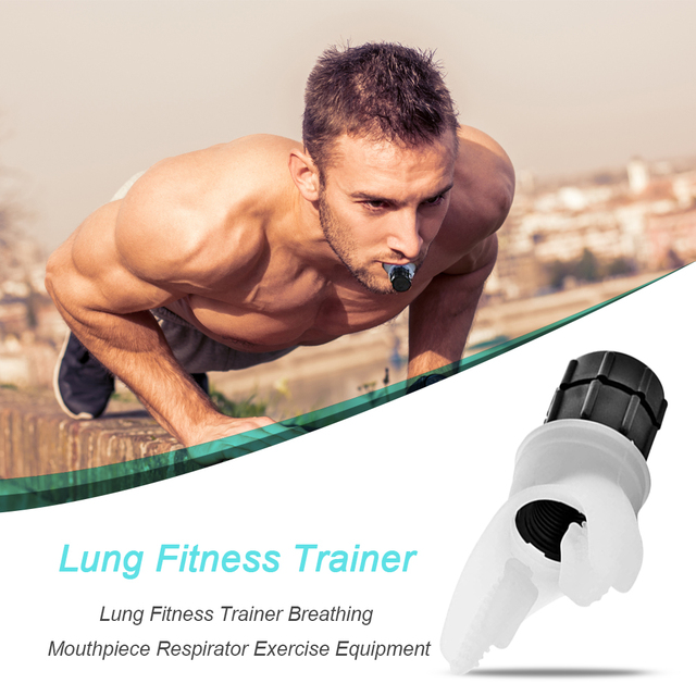 Lung Respirator Fitness Trainer Equipment Accessory Silicone Mouthpiece Training for Household Healthy Care Ornaments 1