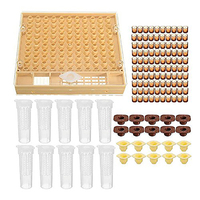 Beekeeping Cup Kit 100 Cell Cups Bee Tool Set Queen Rearing System Bee Complete Catcher Cage Apiculture Helper Beekeeping Tools     -
