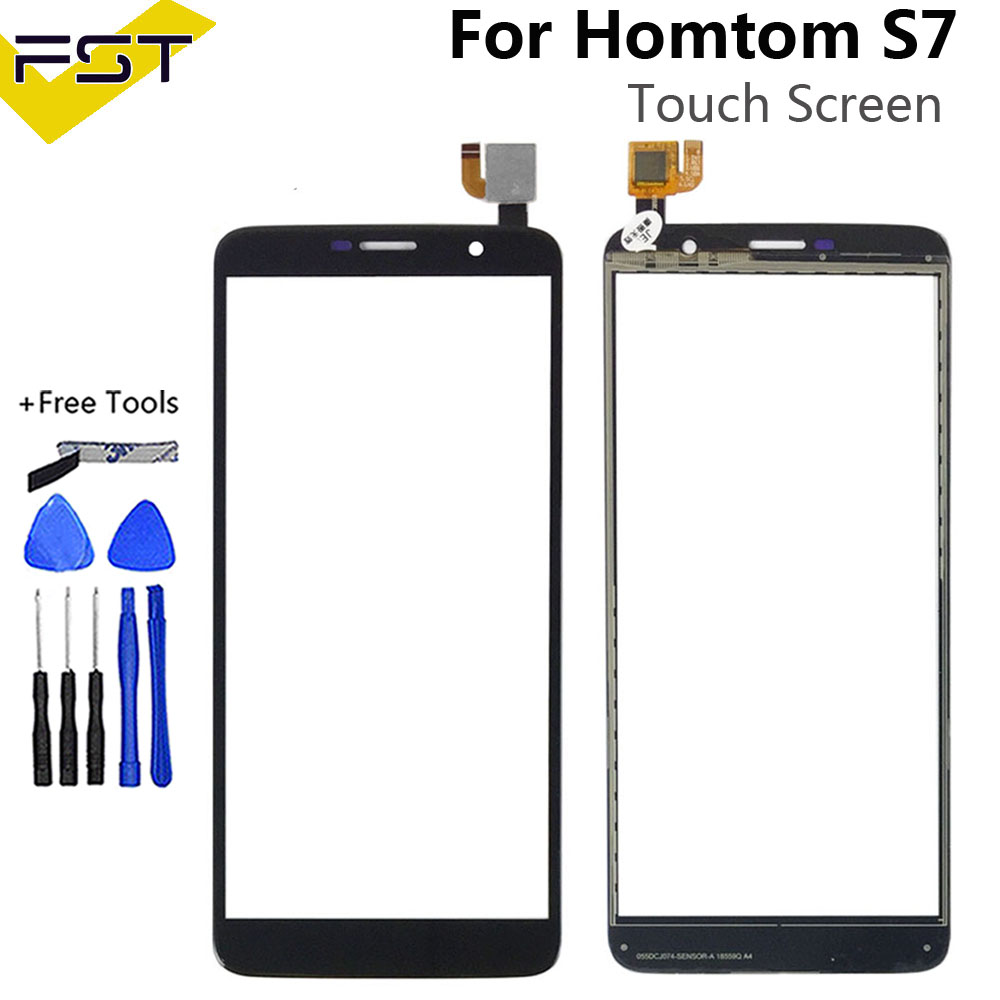 5.5 Inch For HOMTOM S7 Touch Screen Glass Panel Touch Screen For S7 Digitizer Sensor Lens + Tools+Adhesive