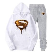 2019  Pure cotton golden superman printing Hoodies Men/Women Hooded Sweatshirts New Harajuku Hip Hop Japanese Hoodi