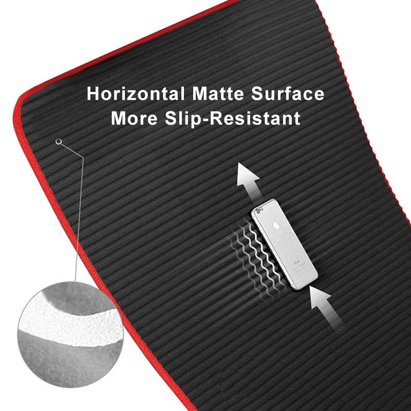 10mm Yoga Mat Extra Thick 1830*610mm NRB Non-slip Pillow Mat For Men Women Fitness Tasteless Gym Exercise Pads Pilates Yoga Mat 4